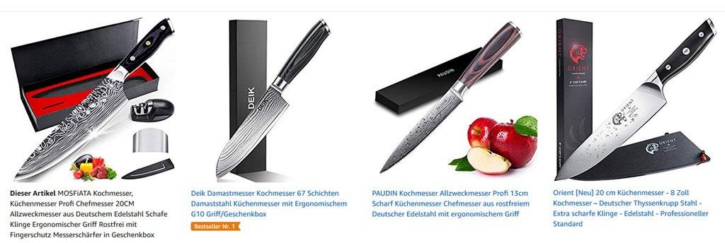 Die Schönheit des Messers ist nicht wichtig sonders der Zweck